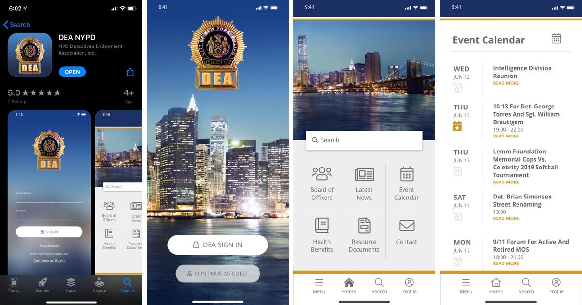 DEA Mobile App Screenshots
