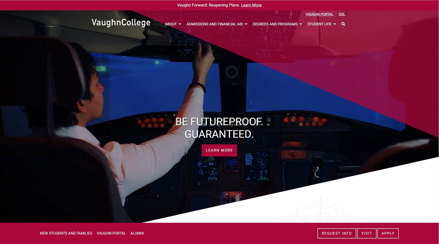 Vaughn College Website.News