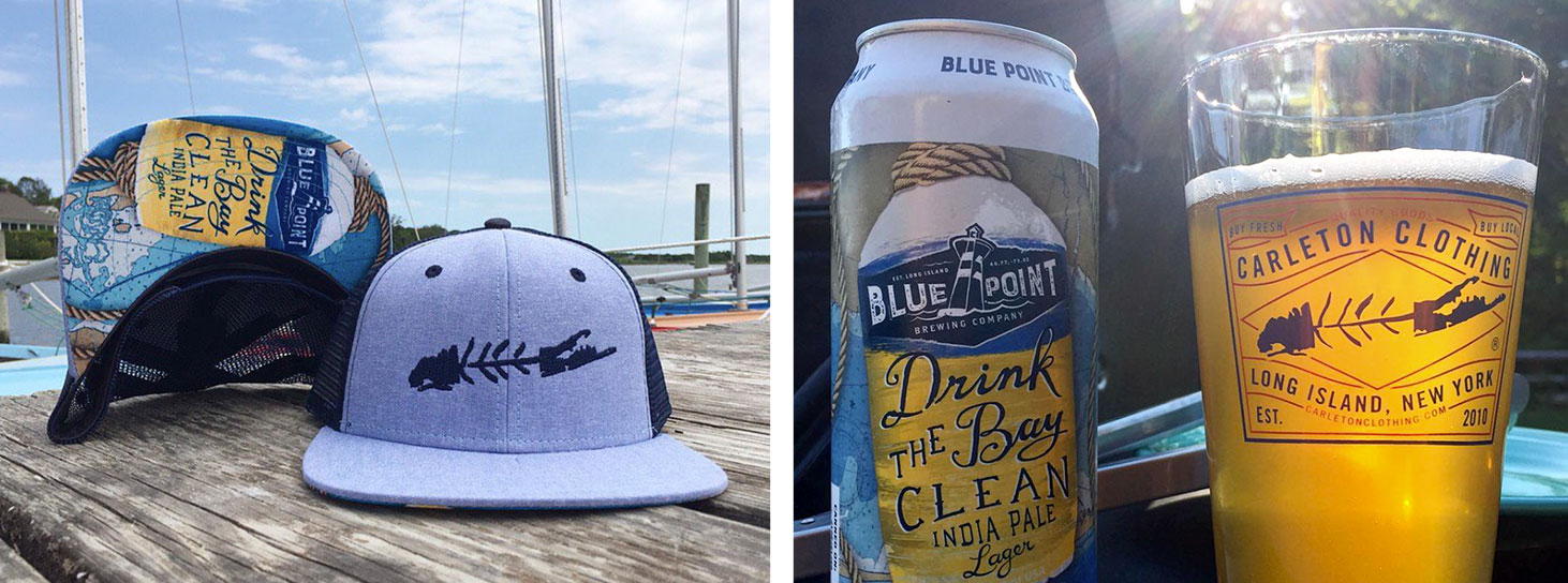 Drink The Bay Clean hat & collectible beer glass