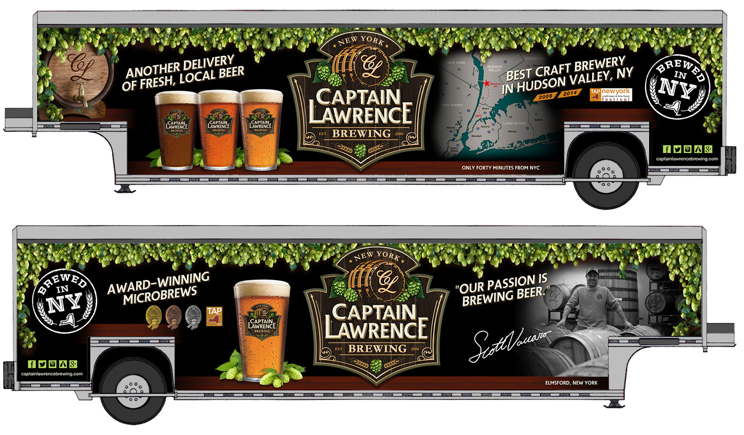 EGC designed Captain Lawrence Brewing's new fleet