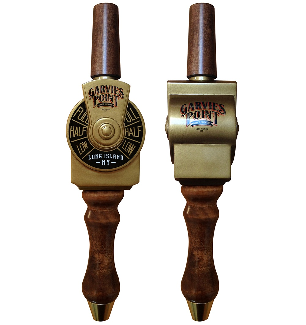 EGC designed the Garvies Point Brewery tap handle to resemble an antique ship throttle.