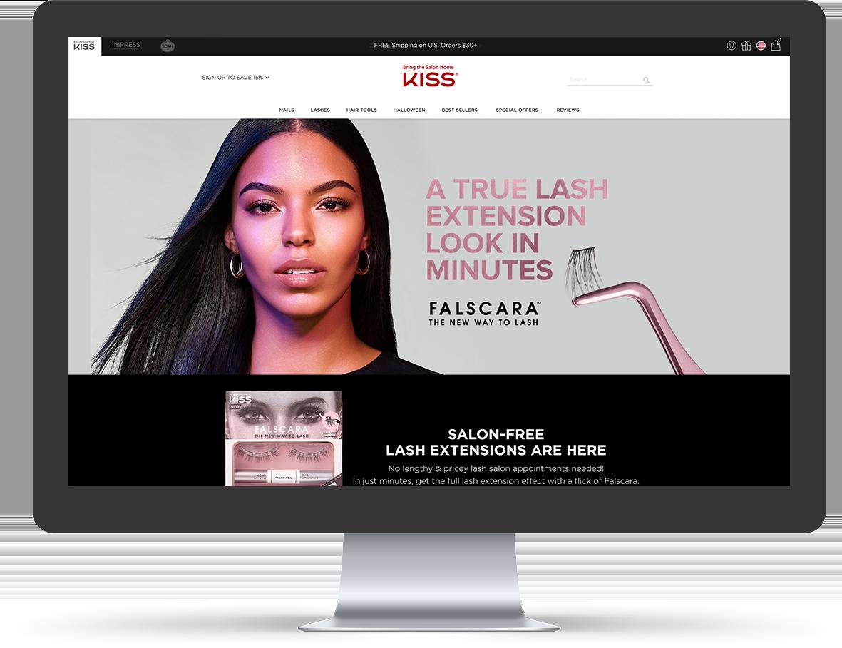 Falscara landing page screenshot