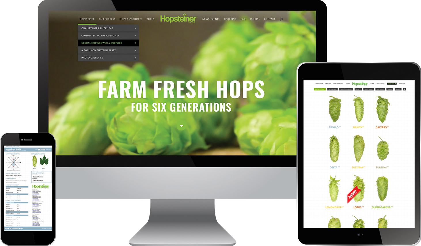 Hopsteiner Website