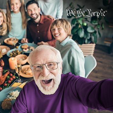 Get grandpa to wear purple.